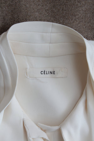 Celine Two-Tone Silk and Wool-Blend Dress - Runway Collection