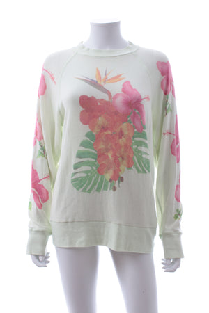 Wildfox Tropical Bouquet Cotton-Blend Sweater