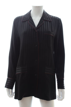 Givenchy Silk Striped Pyjama Style Shirt