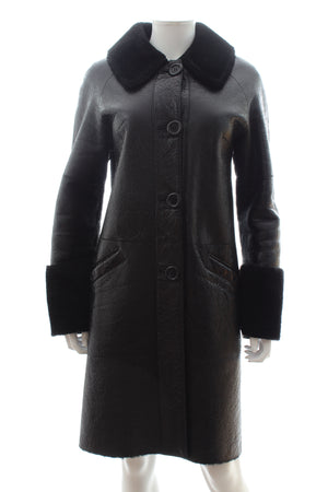 Michael Kors Collection Merino Shearling Coat