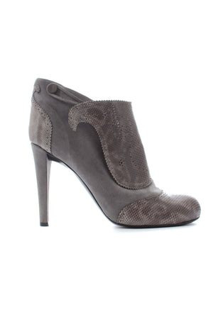 Viktor & Rolf Snakeskin and Suede Ankle Boots