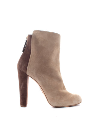 Aquazzura Suede Two Tone Ankle Boots