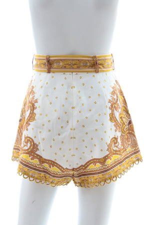 Zimmermann Bells Paisley Tuck Shorts - Current Season