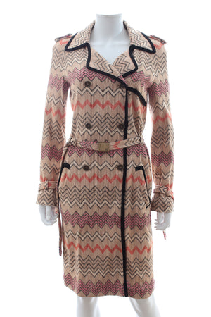 Missoni Belted Long Knit Jacket