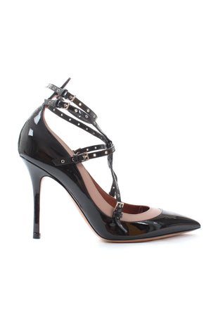 Valentino 'Love Latch' Eyelet-Embellished Patent Leather Pumps