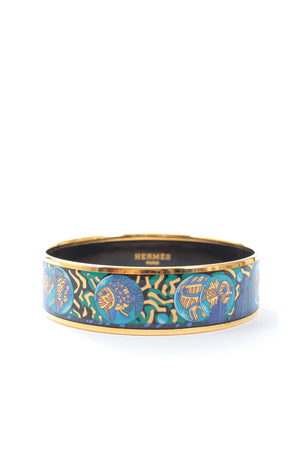 Hermes Under The Ocean Printed Enamel Bangle