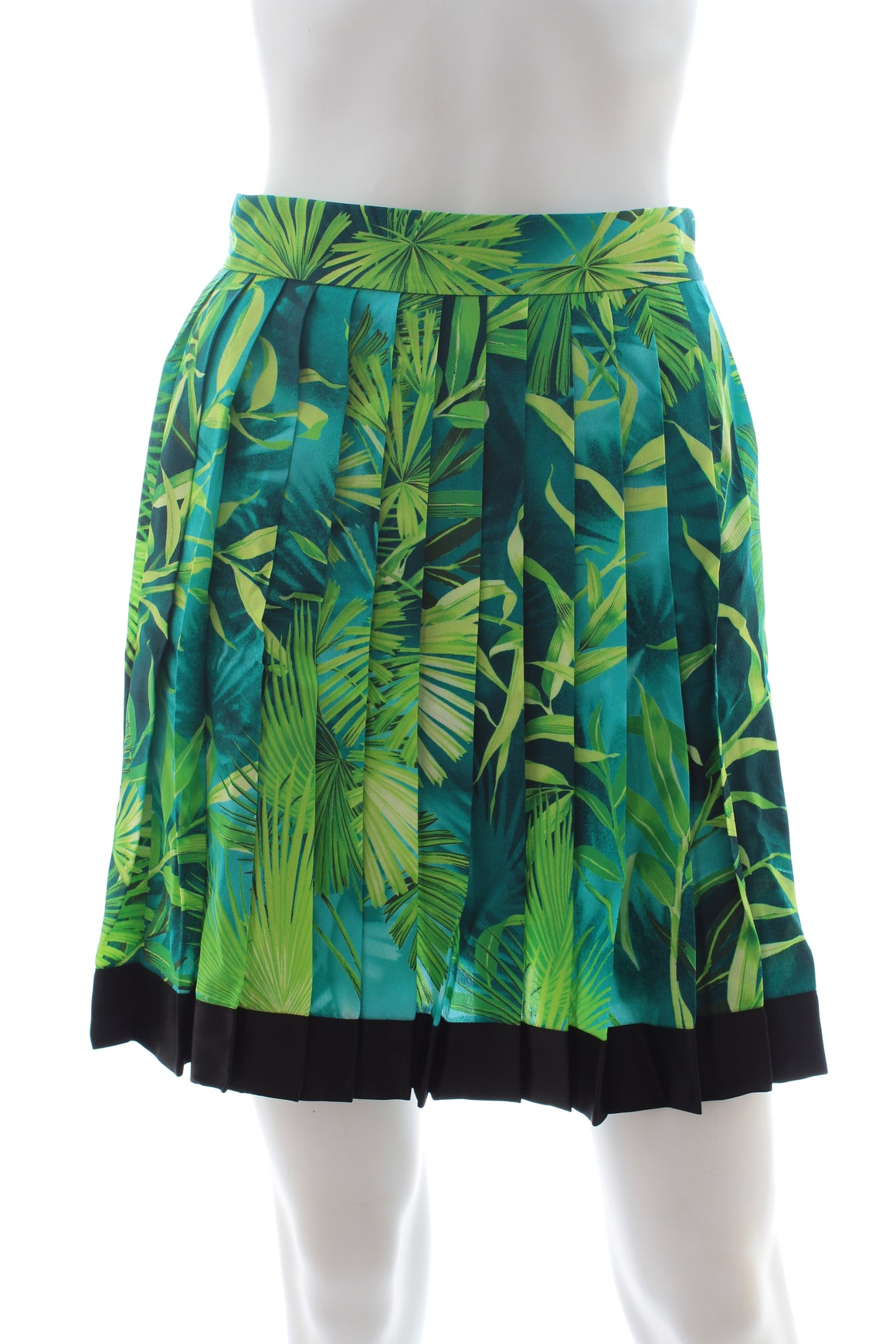 Versace Jungle Print Pleated Silk Skirt - Current Season