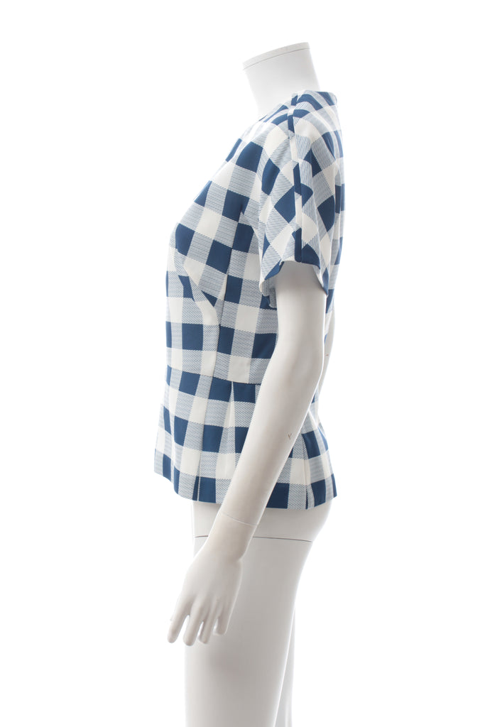 Derek Lam Silk-Blend Check Top