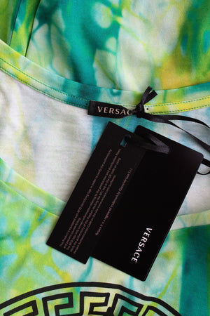 Versace Tie-Dye Cotton Medusa T-Shirt - Current Season