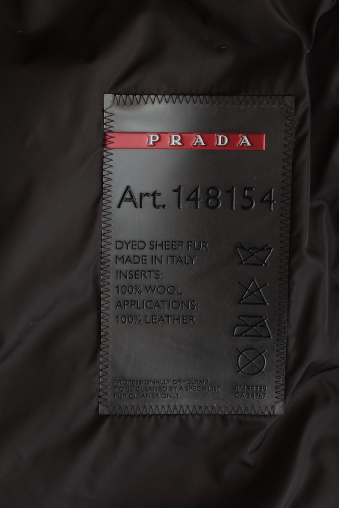 Prada Genuine Sheepskin Coat
