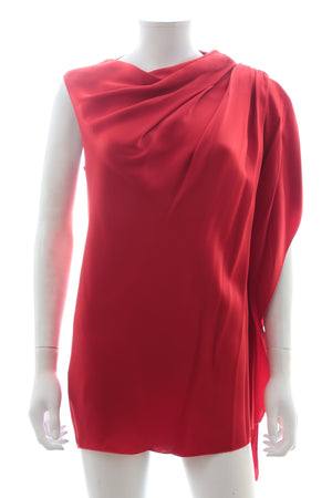 Lanvin Draped Satin Top