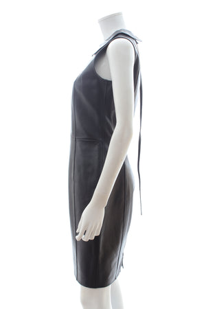 Emporio Armani Leather Sleeveless Dress