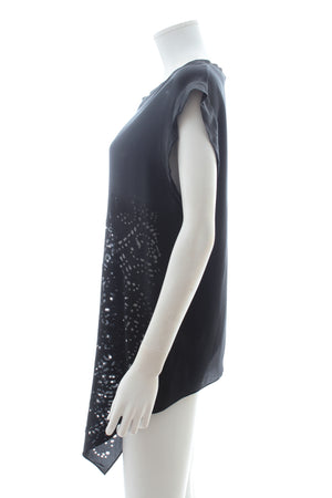 3.1 Phillip Lim Laser-Cut Asymmetric Silk Top