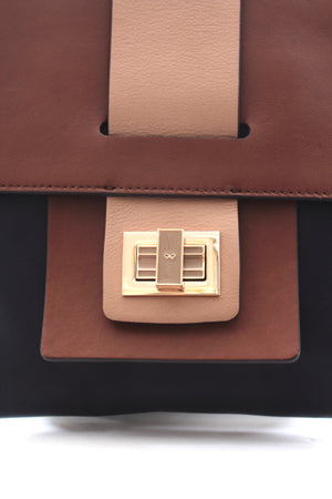 Anya Hindmarch Leather Flap Clutch Bag