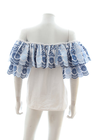 Gul Hurgel Embroidered Off-the-shoulder Top