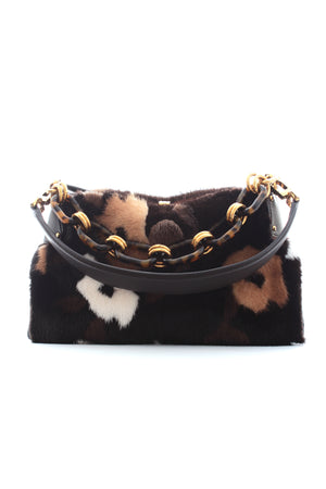 Michael Kors 'Miranda' Mink Fur Shoulder Bag