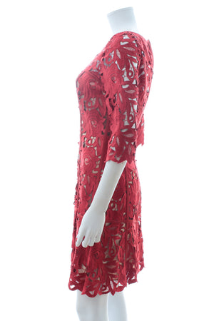Temperley London Lace and Silk Dress
