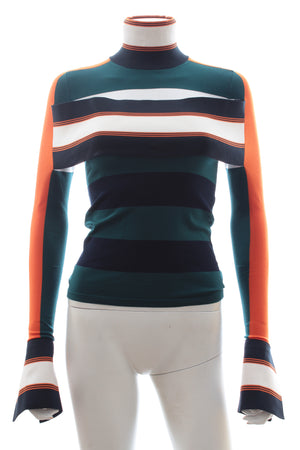 Louis Vuitton Striped Turtleneck Sweater with Band - Runway Collection