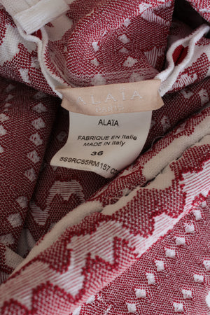 Alaïa 'Scoubidou' Ribbed Jacquard Skater Dress