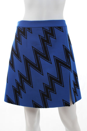 Christopher Kane Zig-Zag Wool Mini Skirt