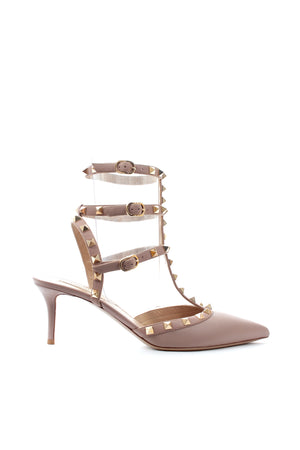 Valentino Garavani Rockstud 70 Caged Leather Pumps