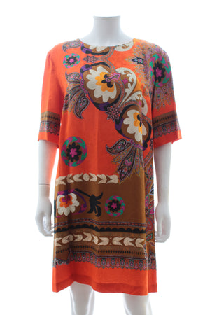 Etro Silk-Blend Printed Dress