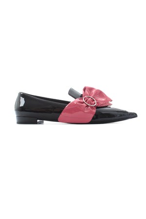 Prada Patent Leather Bow Pointed Loafers, Flats, Prada, Closet Upgrade - Closet-Upgrade