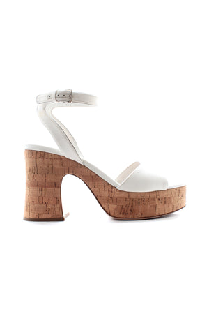 Miu Miu Platform Cork-Heeled Sandals