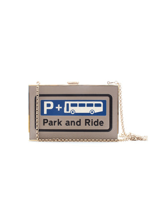 Anya Hindmarch 'Park and Ride' Leather Box Clutch