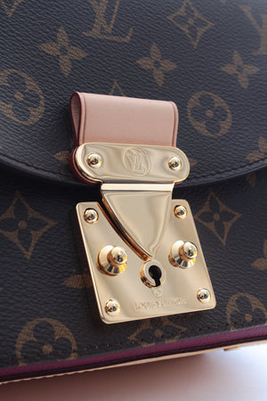 Louis Vuitton Eden PM Monogram Canvas Aurore Leather Bag