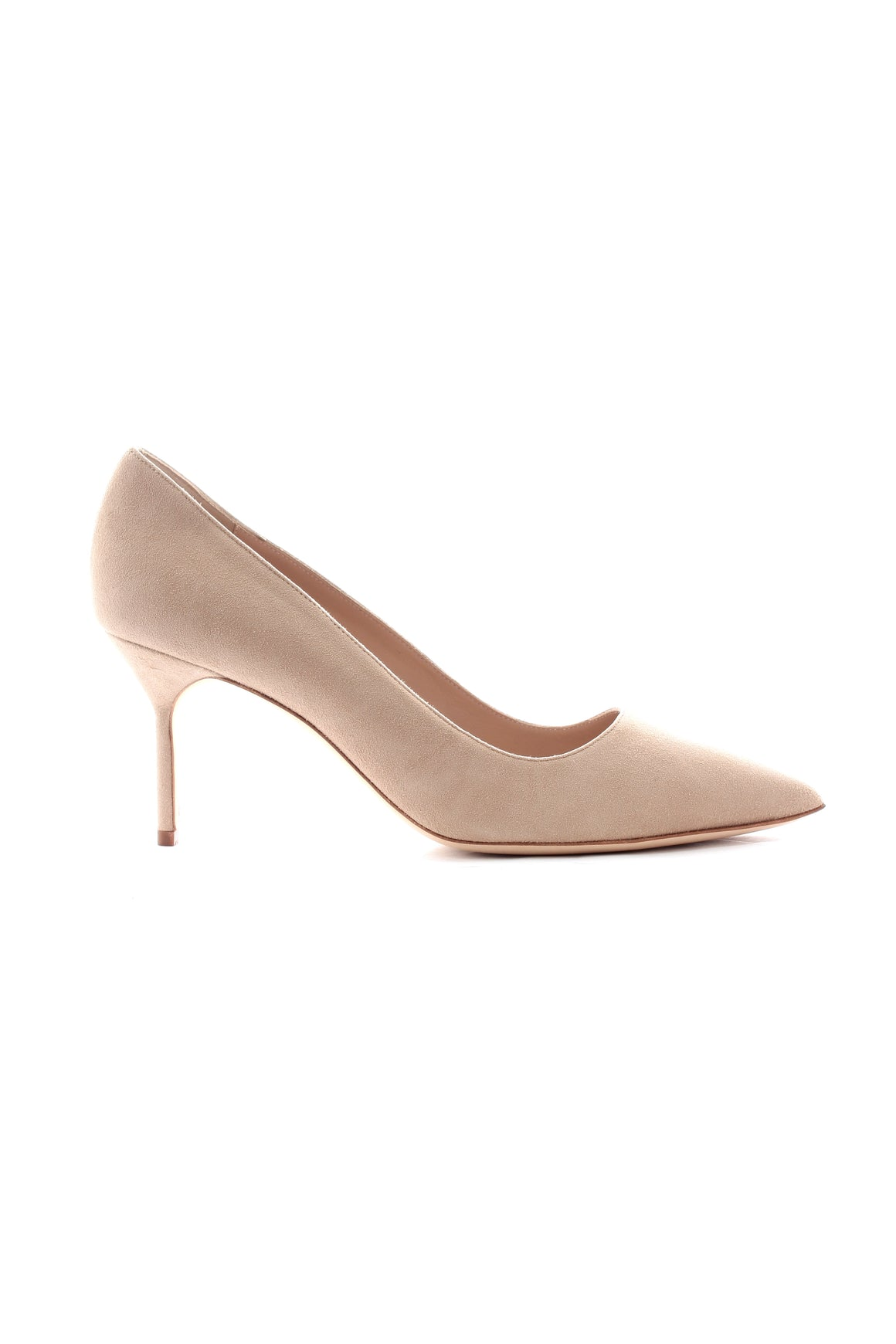 Manolo Blahnik BB 70 Suede Pointed Toe Pumps