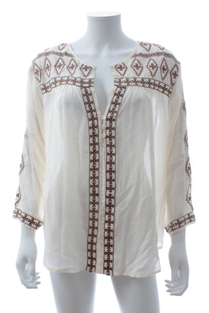 Melissa Odabash 'Milly' Embroidered Beach Shirt