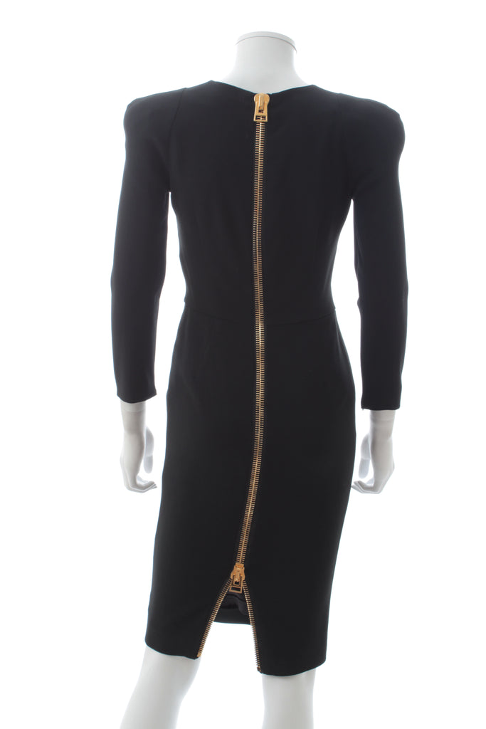 Tom Ford Statement-Zip Crepe Dress