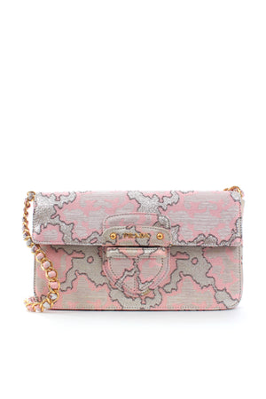 Prada Metallic Brocade Chain Shoulder Bag