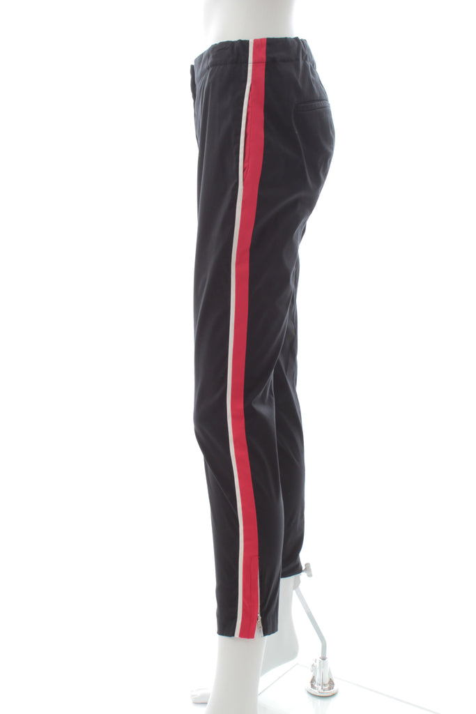 Prada Striped Stretch-Cotton Cropped Trousers