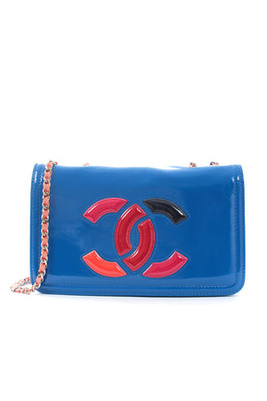 Chanel Lipstick Patent Leather Flap Bag
