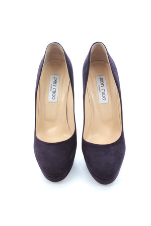 Jimmy Choo 'Cosmic' Suede Platform Pumps, Heels, Jimmy Choo, Closet Upgrade - Closet-Upgrade