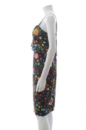 Victoria Victoria Beckham Kick Start Flower Printed Dress