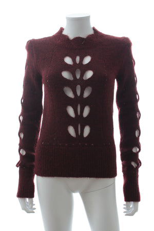 Isabel Marant 'Ilia' Cutout Pointelle-Knit Sweater