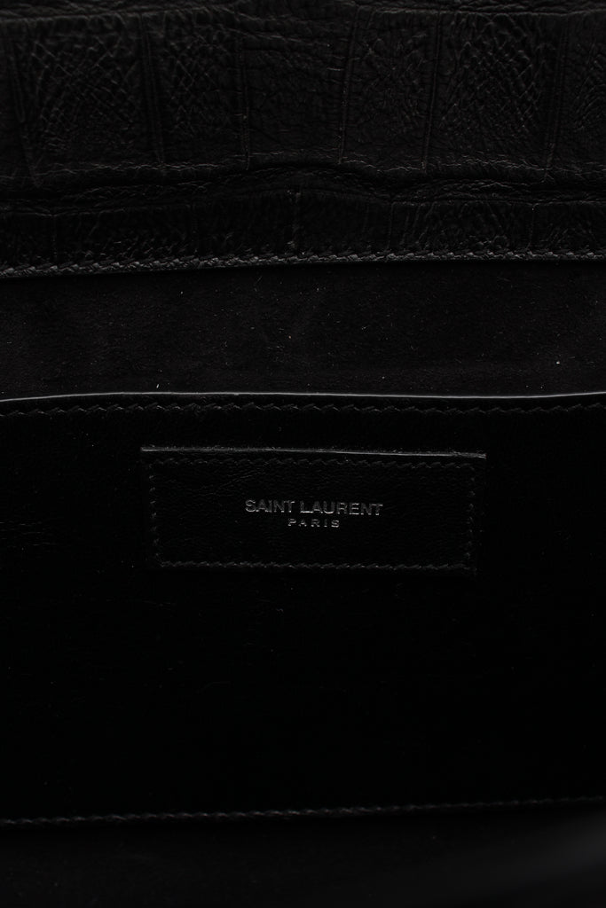 Saint Laurent Betty Bag in Croc Embossed Calfskin Leather