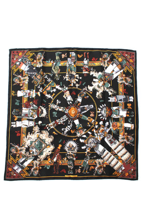 Hermes 'Kachinas' by Kermit Oliver Silk Scarf