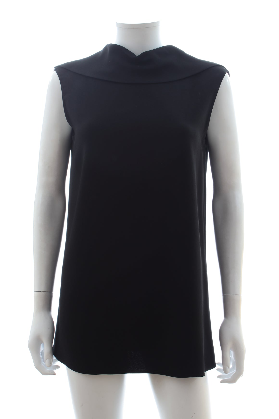 The Row Draped Collar Crepe Top