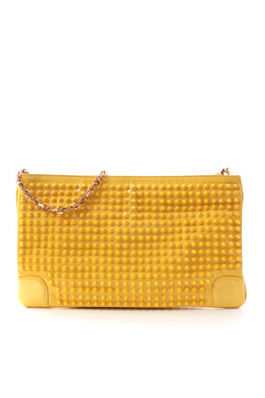 Christian Louboutin Loubiposh Studded Patent Leather Clutch Bag