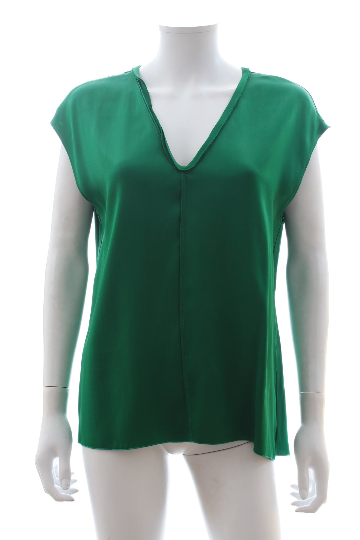 Forte Forte V-Neck Satin Top