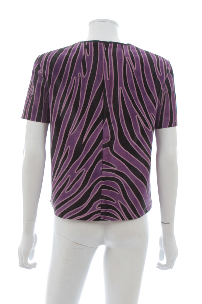 Mother of Pearl 'Juno' Animal-Print Calf Hair Peplum Top, Tops & Shirts, Mother of Pearl, Closet Upgrade - Closet-Upgrade