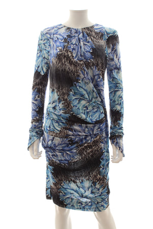 Peter Pilotto Printed Draped Stretch-Jersey Dress