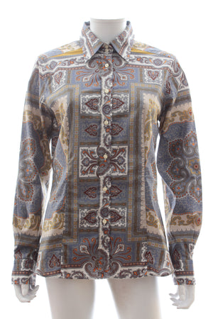 Etro Paisley Print Cotton-Blend Shirt