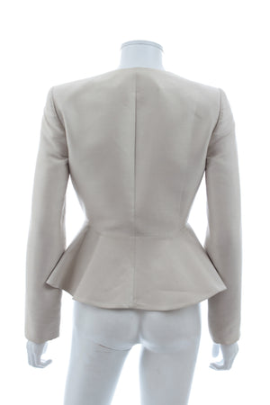 Stella McCartney 'Isami' Silk-Cotton Peplum Jacket