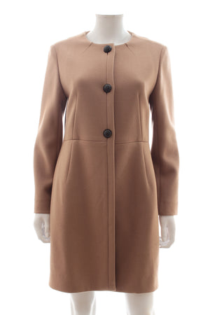 Chloé Wool Collarless Coat