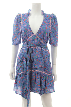 LoveShackFancy 'Arlo' Floral Printed Cotton-Voile Mini Dress